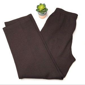 St. John Collection Brown Knit Wide Leg Pants 2
